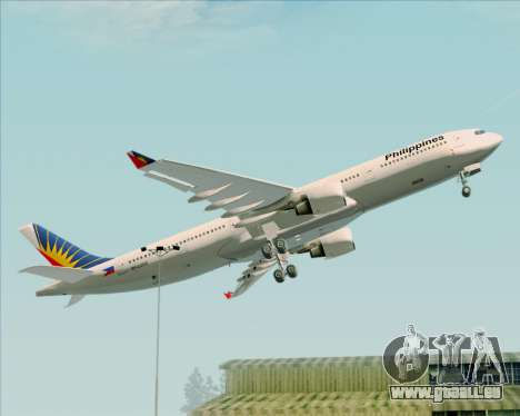 Airbus A330-300 Philippine Airlines für GTA San Andreas obere Ansicht