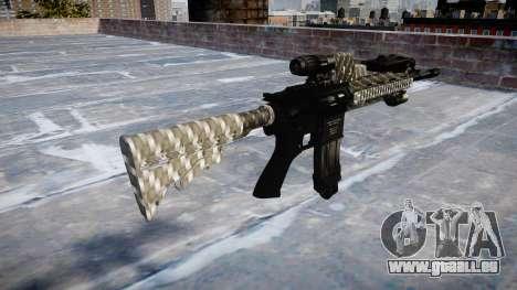 Automatische Gewehr Colt M4A1 carbon fiber für GTA 4 Sekunden Bildschirm