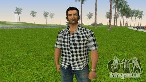 Kockas polo - fekete T-Shirt für GTA Vice City dritte Screenshot