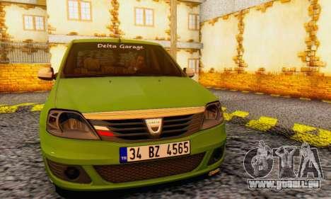 Dacia Logan Delta Garage für GTA San Andreas Rückansicht