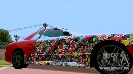 Elegy OnDrift pour GTA San Andreas sur la vue arrière gauche