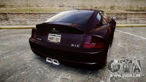 GTA V Schyster Fusilade v2 pour GTA 4 Vue arrière de la gauche
