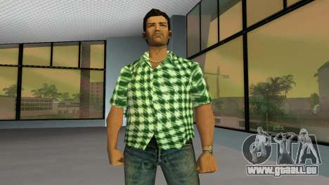 Kockas polo - zold T-Shirt pour GTA Vice City