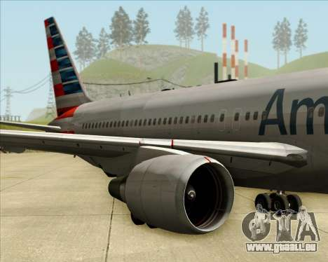 Boeing 767-323ER American Airlines pour GTA San Andreas vue intérieure