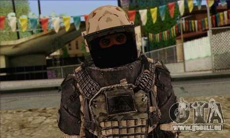 Task Force 141 (CoD: MW 2) Skin 15 pour GTA San Andreas troisième écran