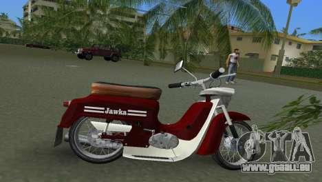 Jawa Type 20 Moped pour GTA Vice City sur la vue arrière gauche