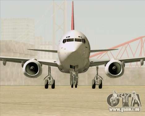Boeing 737-838 Qantas für GTA San Andreas Unteransicht