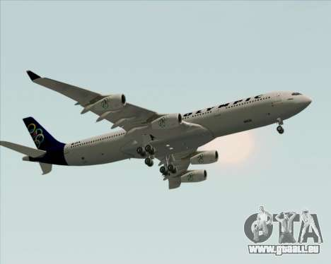 Airbus A340-313 Olympic Airlines pour GTA San Andreas vue intérieure