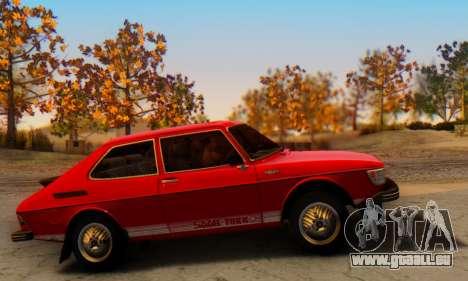 Saab 99 Turbo 1978 pour GTA San Andreas vue arrière