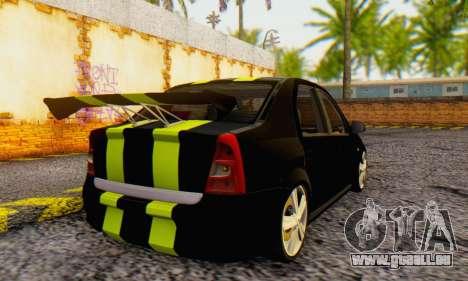 Dacia Logan Black Style für GTA San Andreas zurück linke Ansicht