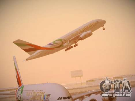 Airbus A380-800 Emirates Rugby World Cup für GTA San Andreas Innen