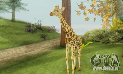 Giraffe (Mammal) pour GTA San Andreas deuxième écran