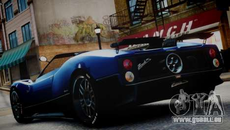 Pagani Zonda S (C12S) Roadster 2011 für GTA 4 linke Ansicht