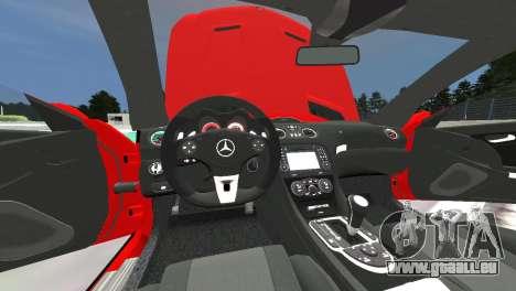 Mercedes Benz SL65 AMG Black Series pour GTA 4 est une vue de l'intérieur