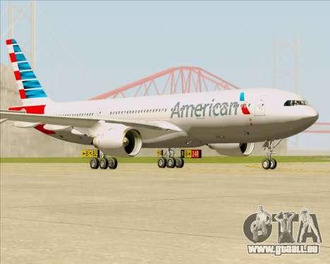 Airbus A330-200 American Airlines pour GTA San Andreas laissé vue