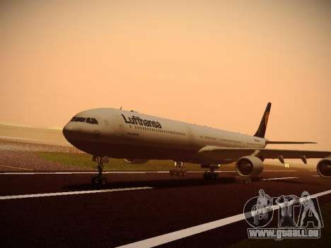 Airbus A340-600 Lufthansa für GTA San Andreas rechten Ansicht