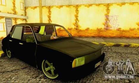 Dacia 1310 TLX PRN pour GTA San Andreas sur la vue arrière gauche
