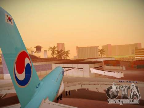 Airbus A380-800 Korean Air für GTA San Andreas Motor