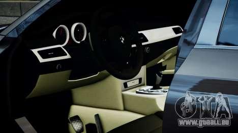 BMW M5 E60 v1 pour GTA 4 Vue arrière de la gauche