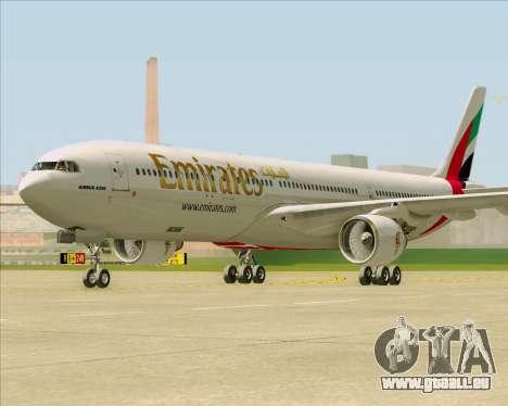 Airbus A330-300 Emirates pour GTA San Andreas sur la vue arrière gauche