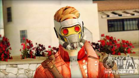Guardians of the Galaxy Star Lord v2 für GTA San Andreas dritten Screenshot