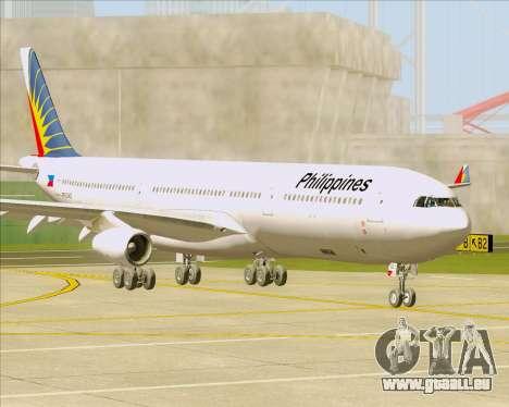 Airbus A340-313 Philippine Airlines für GTA San Andreas linke Ansicht