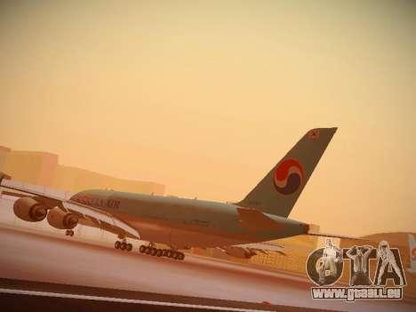 Airbus A380-800 Korean Air pour GTA San Andreas vue de côté
