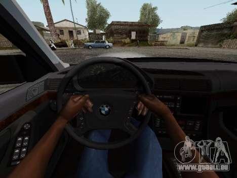 BMW 760i E38 pour GTA San Andreas vue arrière