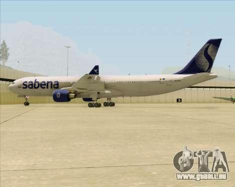 Airbus A330-300 Sabena für GTA San Andreas Unteransicht