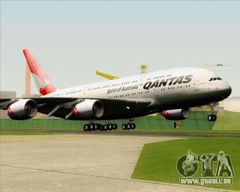 Airbus A380-841 Qantas pour GTA San Andreas vue arrière