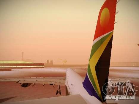 Airbus A340-600 South African Airways pour GTA San Andreas moteur