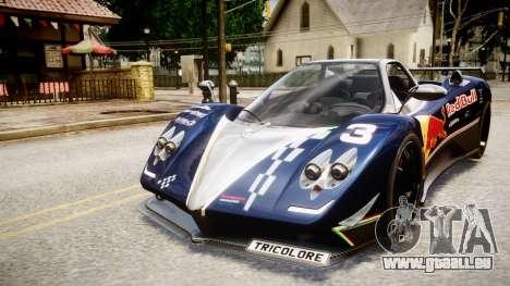 Pagani Zonda Tricolore für GTA 4 hinten links Ansicht