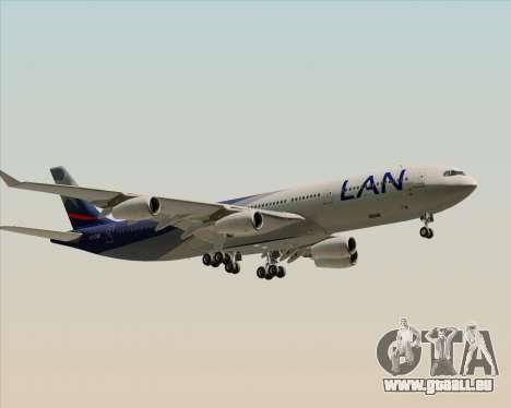 Airbus A340-313 LAN Airlines für GTA San Andreas Rückansicht