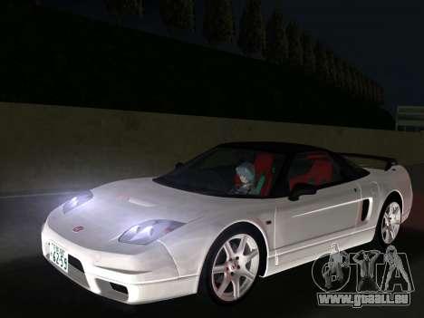 Honda NSX-R pour GTA Vice City sur la vue arrière gauche