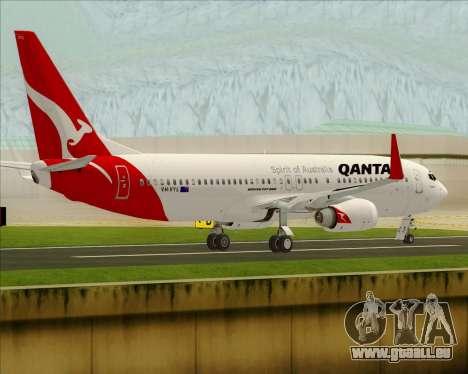 Boeing 737-838 Qantas pour GTA San Andreas vue de droite