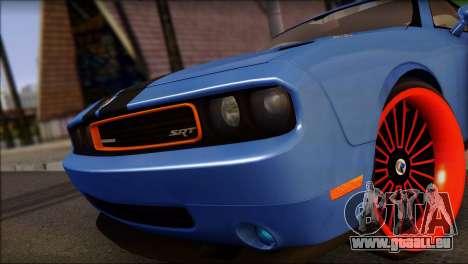 Dodge Challenger SRT8 Stance pour GTA San Andreas sur la vue arrière gauche