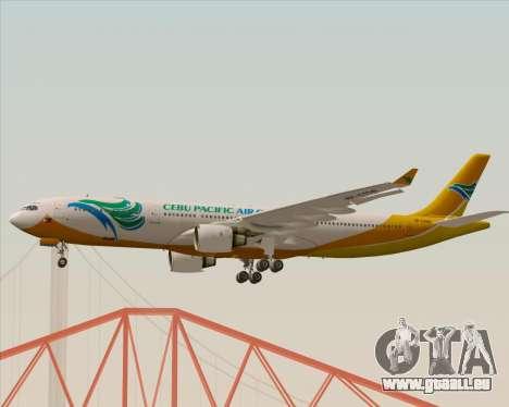 Airbus A330-300 Cebu Pacific Air pour GTA San Andreas vue intérieure