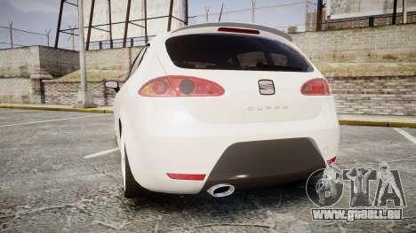 Seat Leon Guido Belsito pour GTA 4 Vue arrière de la gauche