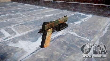 Pistolet Kimber 1911 Jungle pour GTA 4 secondes d'écran