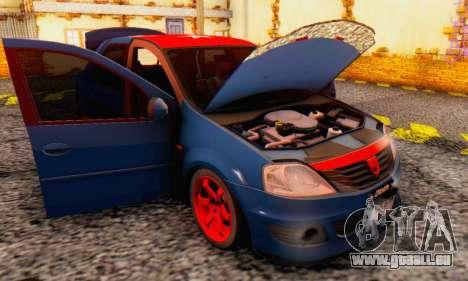 Dacia Logan Turkey Tuning für GTA San Andreas obere Ansicht