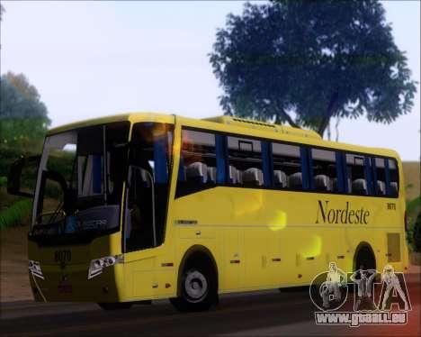 Busscar Elegance 360 Viacao Nordeste 8070 pour GTA San Andreas vue intérieure