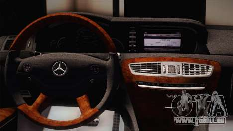Mercedes-Benz CL63 AMG pour GTA San Andreas sur la vue arrière gauche
