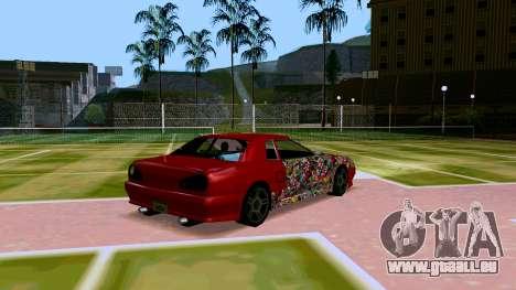 Elegy OnDrift pour GTA San Andreas vue de droite