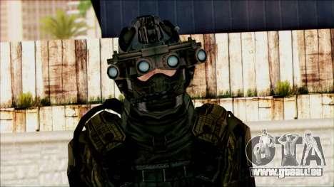 Les soldats de l'équipe de Fantôme 1 pour GTA San Andreas troisième écran
