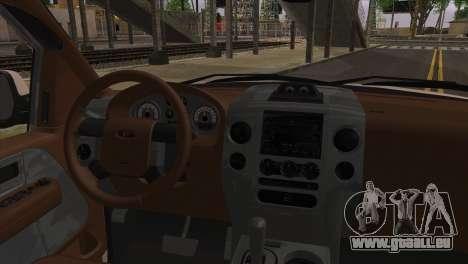 Ford F-150 2005 pour GTA San Andreas sur la vue arrière gauche