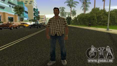 Kockas polo - citrom sarga T-Shirt für GTA Vice City zweiten Screenshot