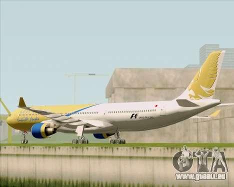 Airbus A330-300 Gulf Air pour GTA San Andreas sur la vue arrière gauche