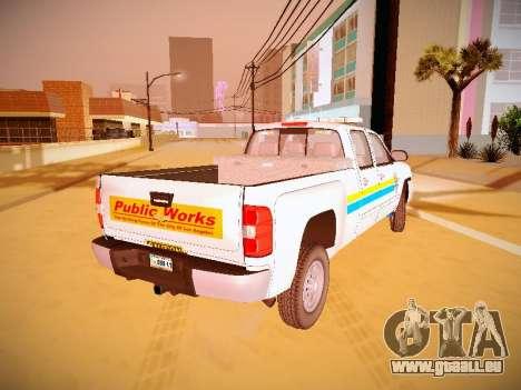 Chevrolet Silverado 2500HD Public Works Truck pour GTA San Andreas laissé vue