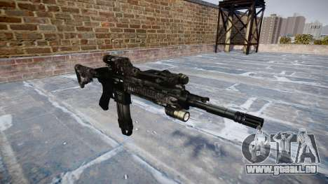 Automatische Gewehr Colt M4A1 kryptek typhon für GTA 4