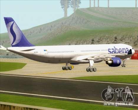 Airbus A330-300 Sabena für GTA San Andreas rechten Ansicht